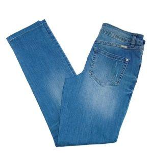 INC Denim Boyfriend Jean Regular Fit Size 4 Blue